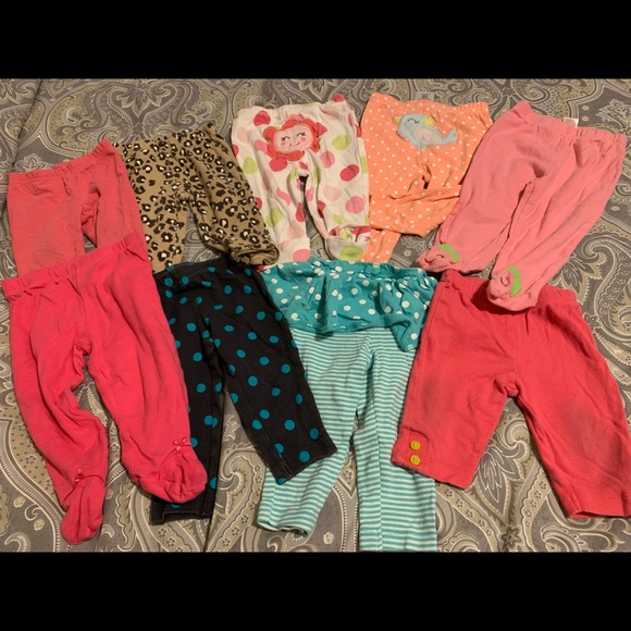 9PCS CARTER'S Pajama Bottoms Leggings 9Months